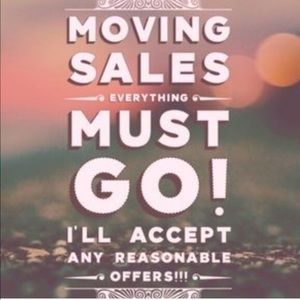 everything must go moving sale !